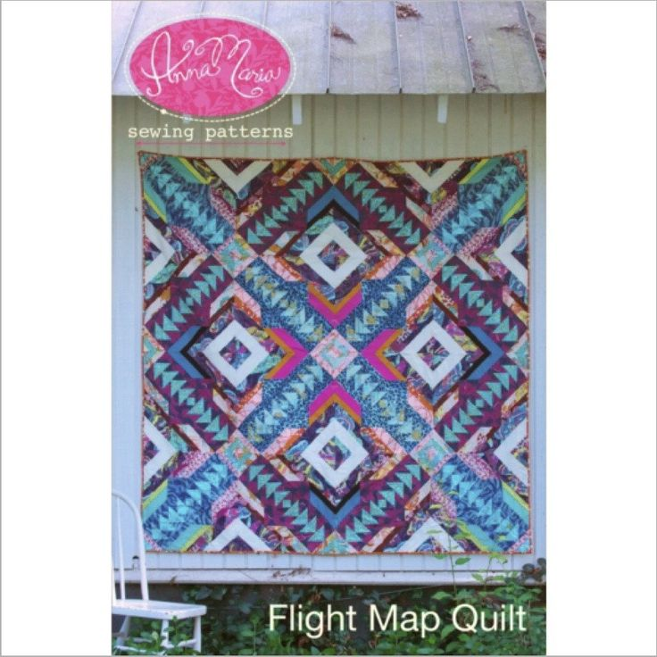 Flight map quilt pattern - M is for make