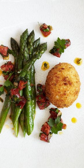 This triumphant crispy egg recipe from James Mackenzie will usher in spring with a bang. The chorizo and lovage add a real punch to proceedings, making this a super starter for a dinner party.
