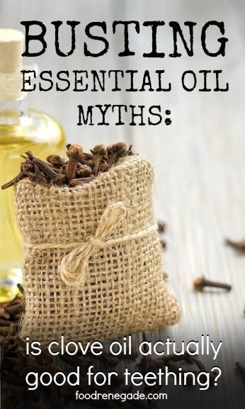Clove Oil for Teething Babies: Busted Essential Oil Myth #1 - Is clove oil actually good for teething? Clove essential oil is on the list of essential oils to avoid using on children under age 2.