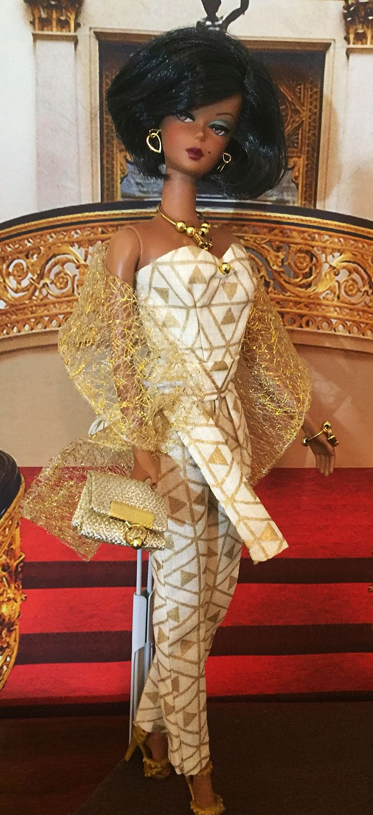 Silkstone barbie Gold jumper handmade