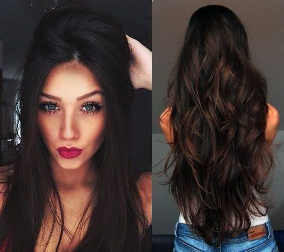 Best 25 black hair with highlights ideas on pinterest black hair highlights for dark brown hairstyles pmusecretfo Choice Image
