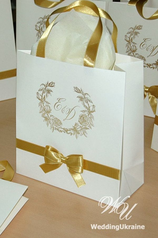 personalized gifts bags Custom hotel Wedding Welcome bags 50 Gold gift bags for wedding guests Gold welcome bag for wedding guests