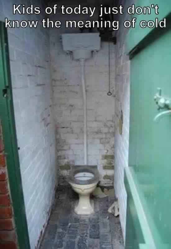 The outside toilet - I remember it well...