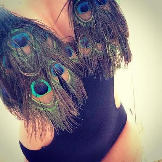 Peacock Feather Monokini Bikini swimwear cut out swimsuit Ibiza Zoo Project