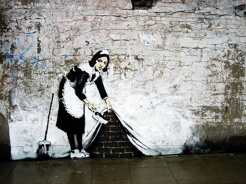 .: Street Artists, Art, Clean, London, Urban Art, Swimwear, Banksy Graffiti, Maids, Streetart