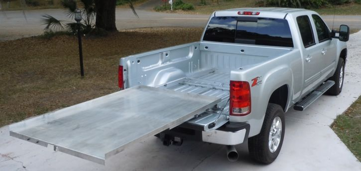 Buy a Hinton bed slide and add your own platform...or buy ...