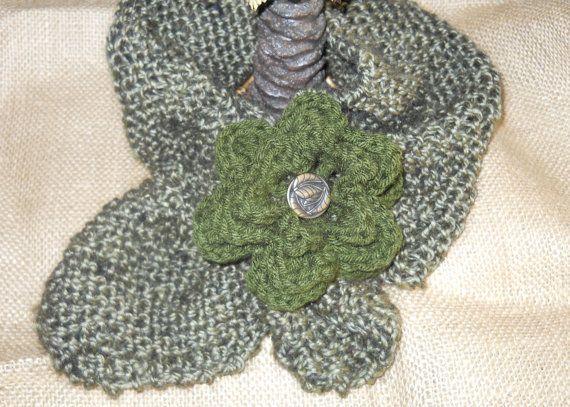 Alpaca Green Women's Scarf by Grandmaspleasures on Etsy, $20.00