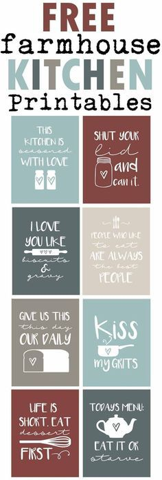 Free Farmhouse Inspired Kitchen Printables-Funny Country Sayings for your kitchen-Aqua Kitchen http://Decor-www.themountainviewcottage.net