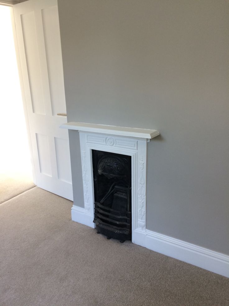 Reclaimed Edwardian fireplace - Farrow and Ball Purbeck Stone walls