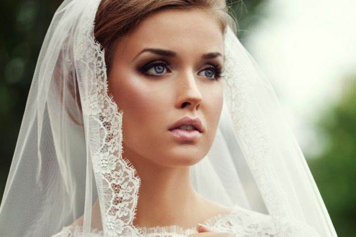 Hochzeit Braut Ideen Smokey Augen Make Up