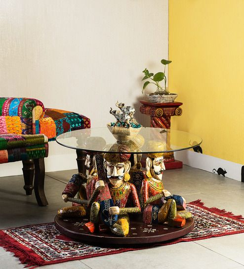 Kalatva Hand Painted Coffee Table By Mudramark Indian Interior DesignInterior