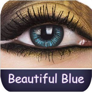 Beautiful Blue Big Eyes Contact Lenses - buy them at www.youknowit.com #contactlenses #fancydress