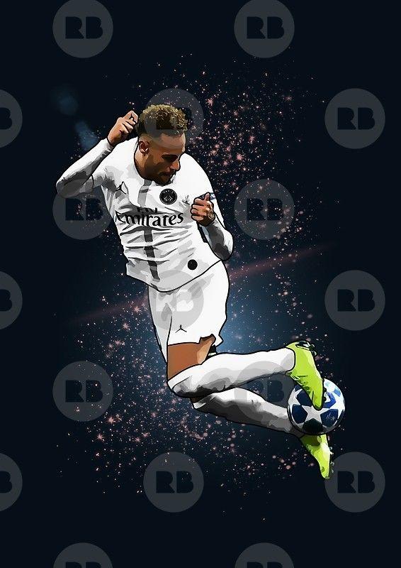 Neymar Jr Psg Rainbow Flick Illustration Design T Shirt Poster Phone Case Tablet Mug Pillow Clock Home De Neymar Jr Neymar Neymar Jr Wallpapers