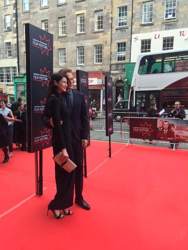 Sam Heughan and Caitriona Balfe at the Edinburgh International Film Festival