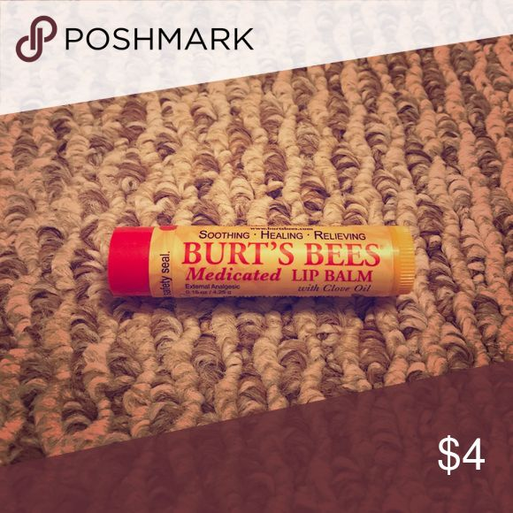 Burt's Bee Medicated Lip Balm with Clove Oil I have several Burt's Bee medicated Lip Balms with Clove Oil. I feel in love with this and naturally they discontinued, since then I have moved on to others. Burt's Bee Makeup Lip Balm & Gloss
