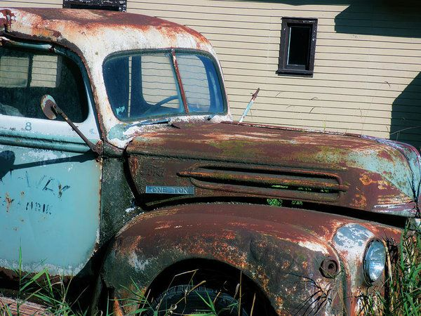 Ford Tough Original Art Print by Leslie Montgomery.