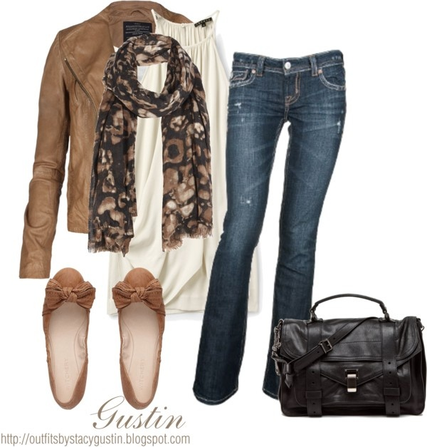 """""""brown jacket"""" by stacy-gustin on Polyvore: Brown Jackets, Style, Clothing, Jeans, Fall Outfits, Fall Fashion, Leather Jackets, Closet, Casual Outfits"""