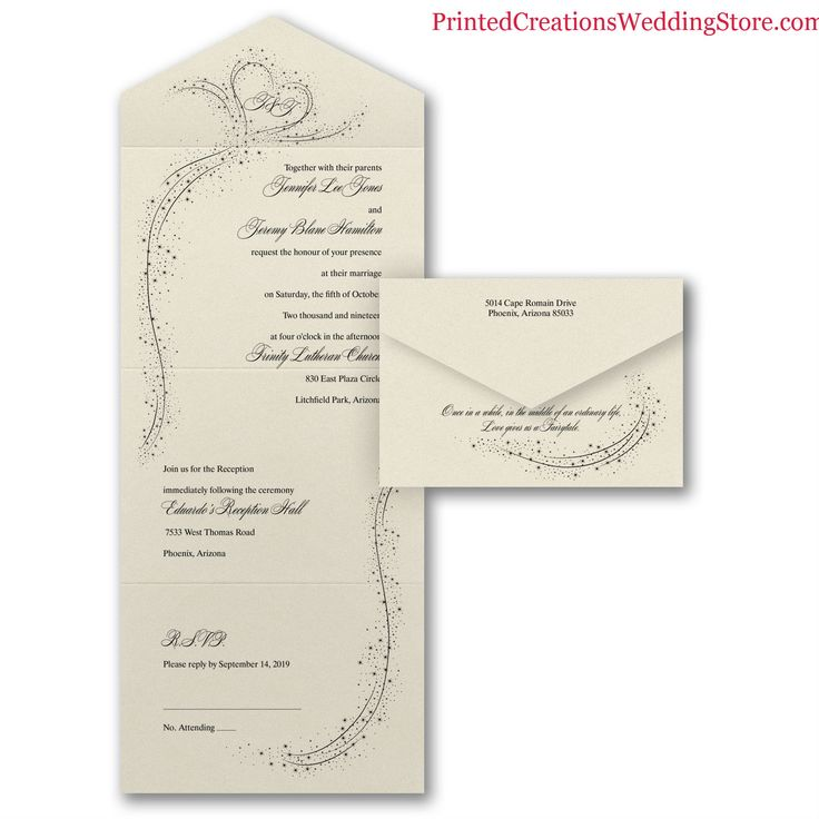how much do invitations for wedding cost%0A In the Stars Seal  u    n Send Invitation  starry heart design for your love  that is written in the stars  This stylish and affordable invitation will  be