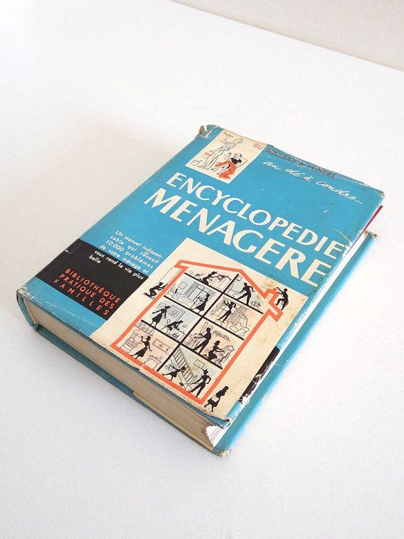 Encyclopédie ménagère 1955  Livre vintage sur l'art par BrocAndPop