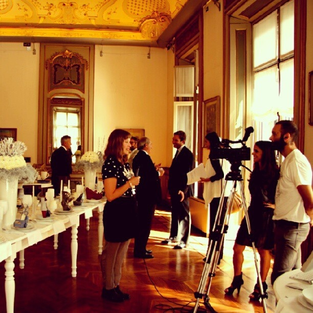 An #Instagram #photo of our #PressOpenDay in #Milan. The blonde girl is one of the shoes designers recording her first interview... and she was very excited.