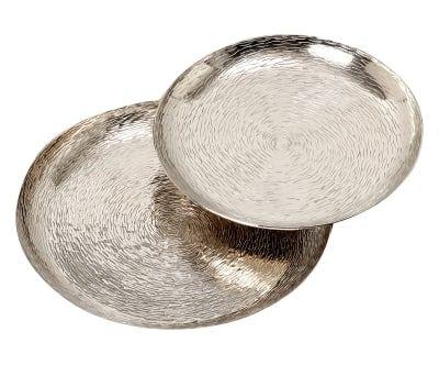 Set di 2 vassoi decor Ties argento