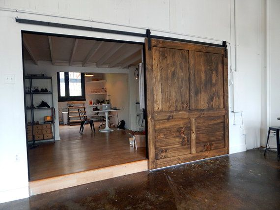 17 best images about barn door on pinterest sliding for Large opening sliding glass doors