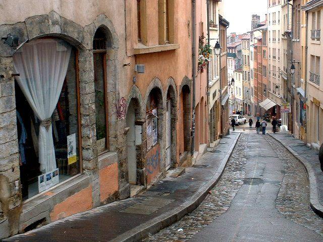 Montée de la Grande Côte in the La Croix-Rousse quarter of Lyon, France
