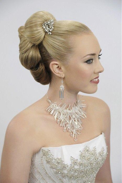 Sharon Blain - long blonde straight wedding and bridal hair styles (21259)