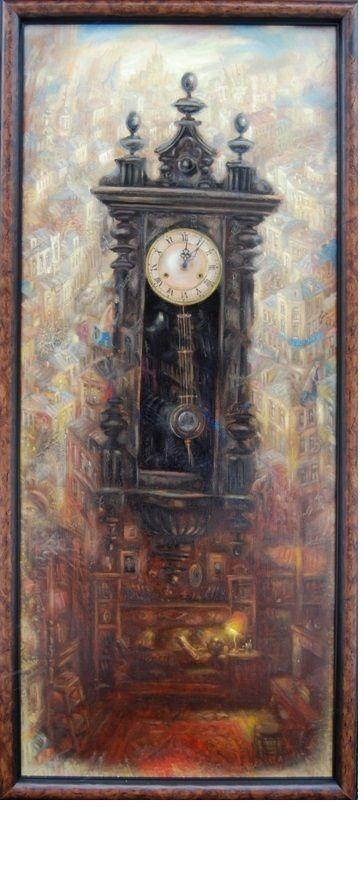 Старые часы. 100х50см., х.м.,2011г