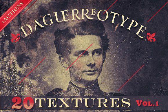 20 Daguerreotype Textures & Actions by Misprinted Type on @creativemarket