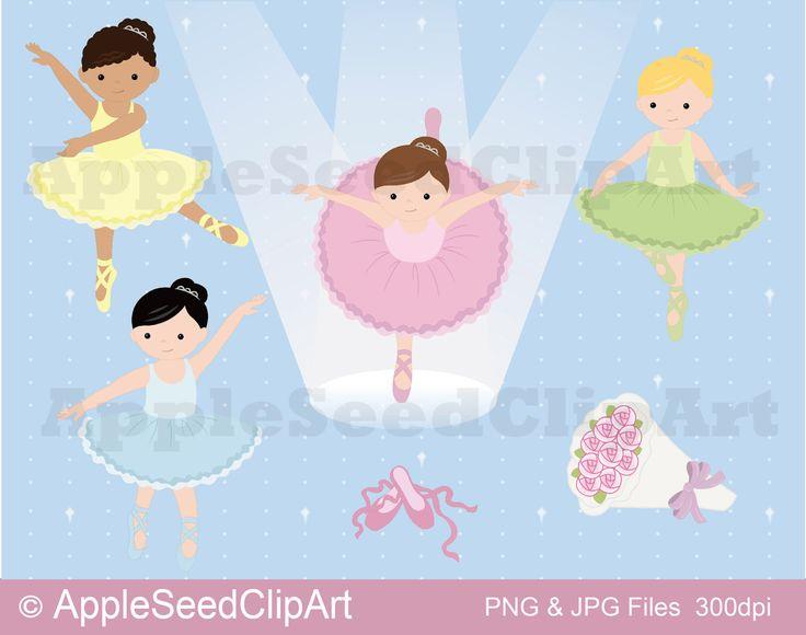 Ballerina Digital ClipArt, Ballett Digital ClipArt, niedliche kleine Mädchen Digital ClipArt, sofort-Download von AppleSeedClipArt auf Etsy https://www.etsy.com/de/listing/205877361/ballerina-digital-clipart-ballett