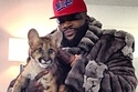 Rick Ross Held A Baby Mountain Lion On His Lap While Wearing A Fur Coat