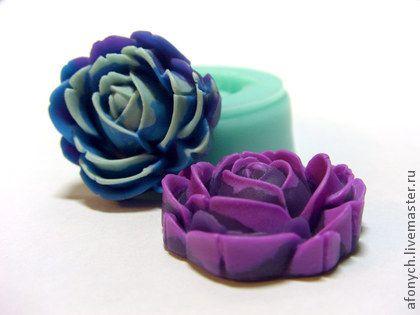 Форма, молд `Бутон` (арт.: 171). Силиконовая форма предназначена для изготовления изделий из пластики / полимерной глины и других материалов методом вдавливания, либо методом заливки.