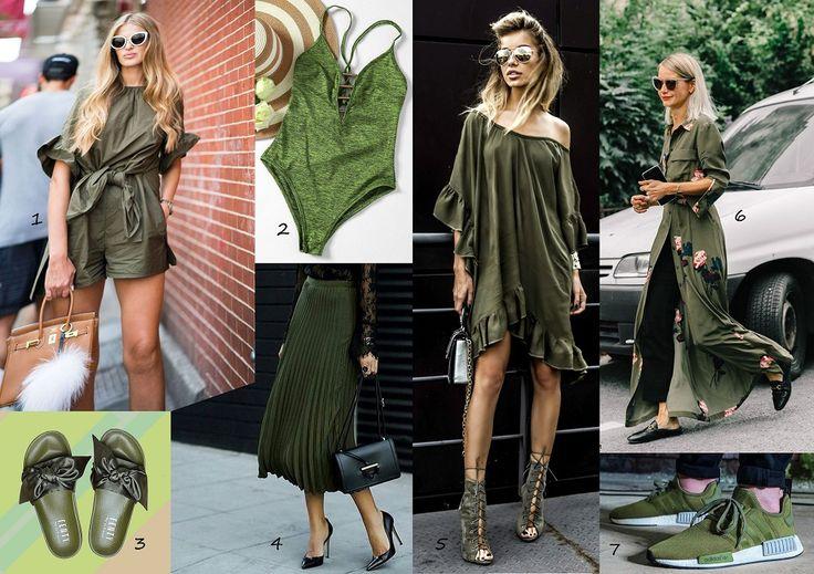 Katonai zöld viselése How to wear greenery?