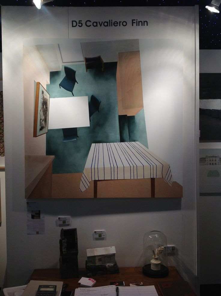 Dina varpahovskys gorgeous room 8 painting alongside sculptures by rowena brown at stand d5 at the