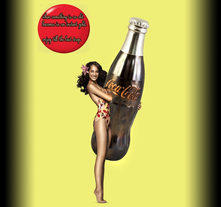"""An """"interesting"""" approach of coca-cola bottle coated with shiny metals!"""