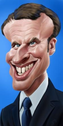 Emmanuel Macron, President of France 2017 by Bruno Munier