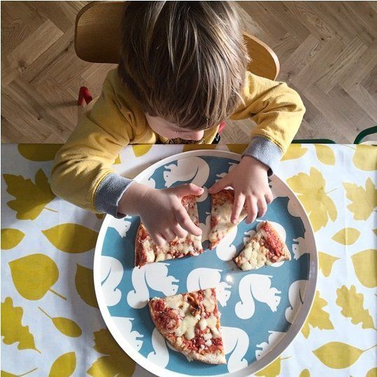 Yummy! It's dinner tiiimmme!!  Shop this little guy's plate and the tablecloth pictured in our Anorak sale today. #mystylefind