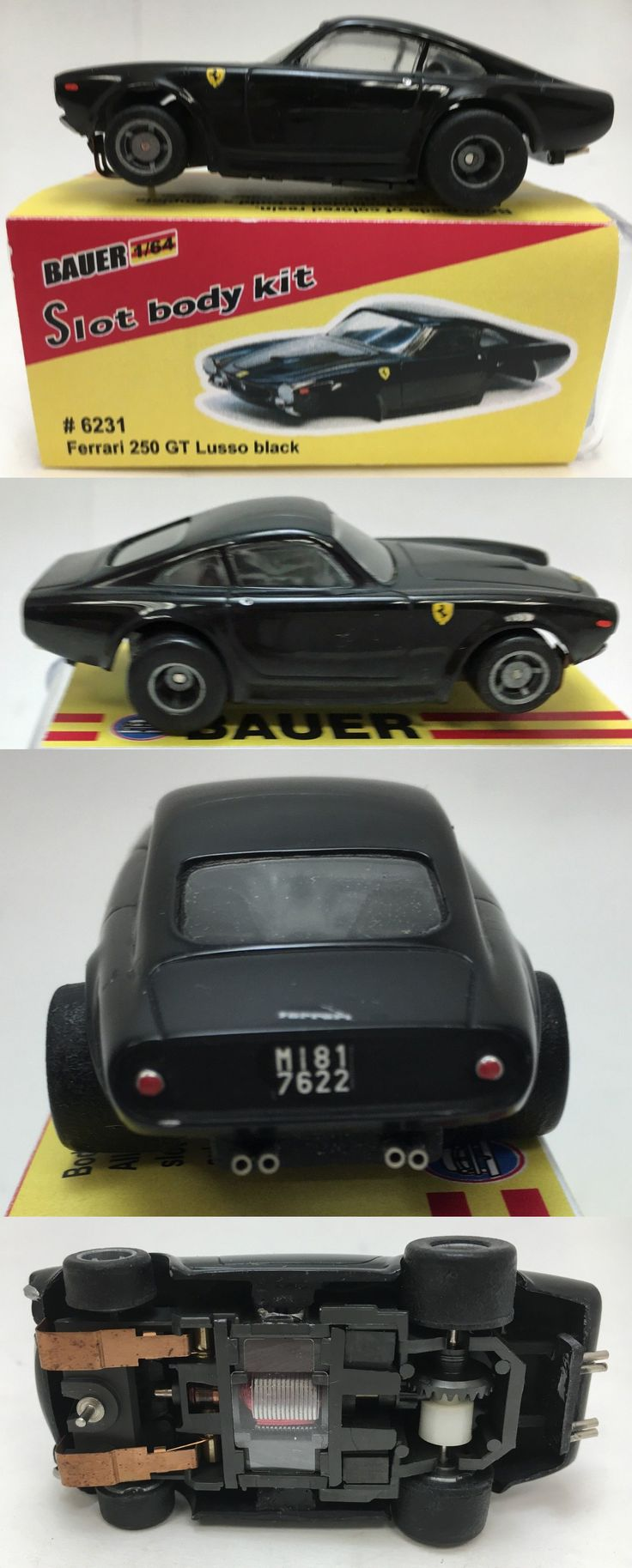 1970-Now 2619: Bauer Ferrari Lusso 250 Gt Black With Packaging Tyco 440X2 New Old Stock -> BUY IT NOW ONLY: $115 on eBay!
