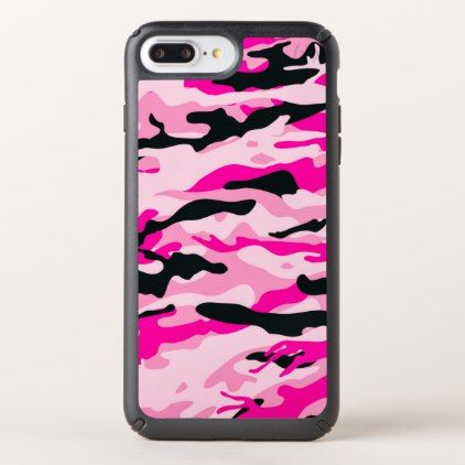 Pink Camouflage Speck iPhone Case - outdoor gifts unique cyo personalize