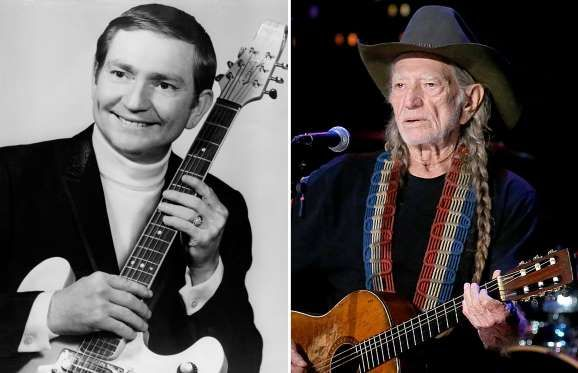 Willie Nelson (1967, 2016) - Michael Ochs Archives/Getty Images; Gary Miller/Getty Images