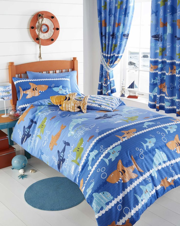 69 best Funky Kids Bedding images on Pinterest   Beautiful, Bed ... : shark quilt cover - Adamdwight.com
