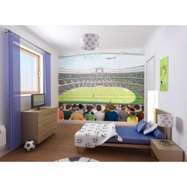Football Crazy Mural Wallpaper 8x10ft - Walltastic | The Personalised Gift Shop
