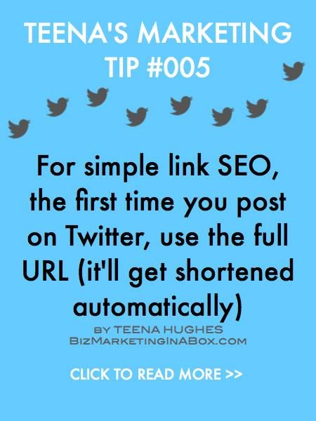 The first time you post a blog post link on Twitter, don't shorten it -- post the whole link (URL) so you'll get a nice back-link. When it's retweeted (RT) it'll be automatically shortened and that's fine.