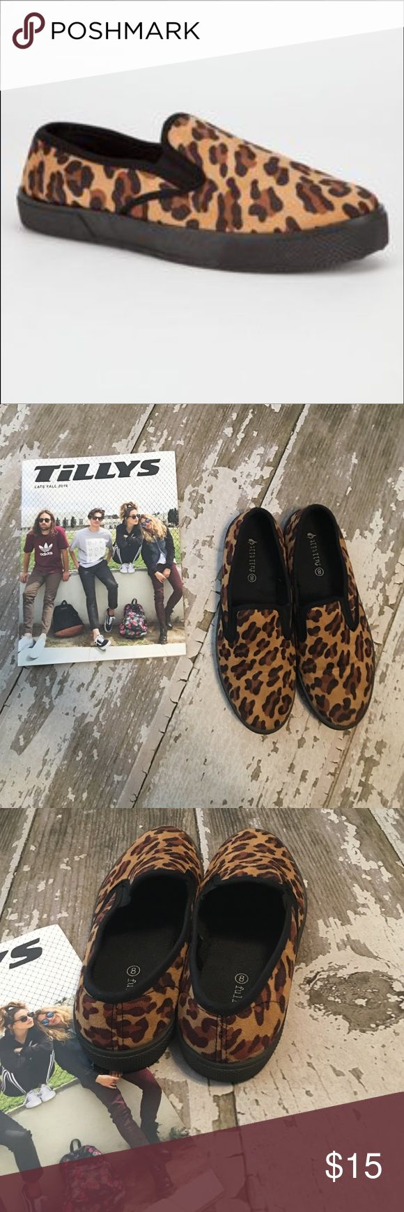 Suede Leopard Slip On Shoes I love these shoes but unfortunately a little too small for me, so they are practically new with no real signs of wear. Full Tilt Size 8 in Women. I will add a pic of the bottoms soon! ❤️ Tilly's Shoes Flats & Loafers