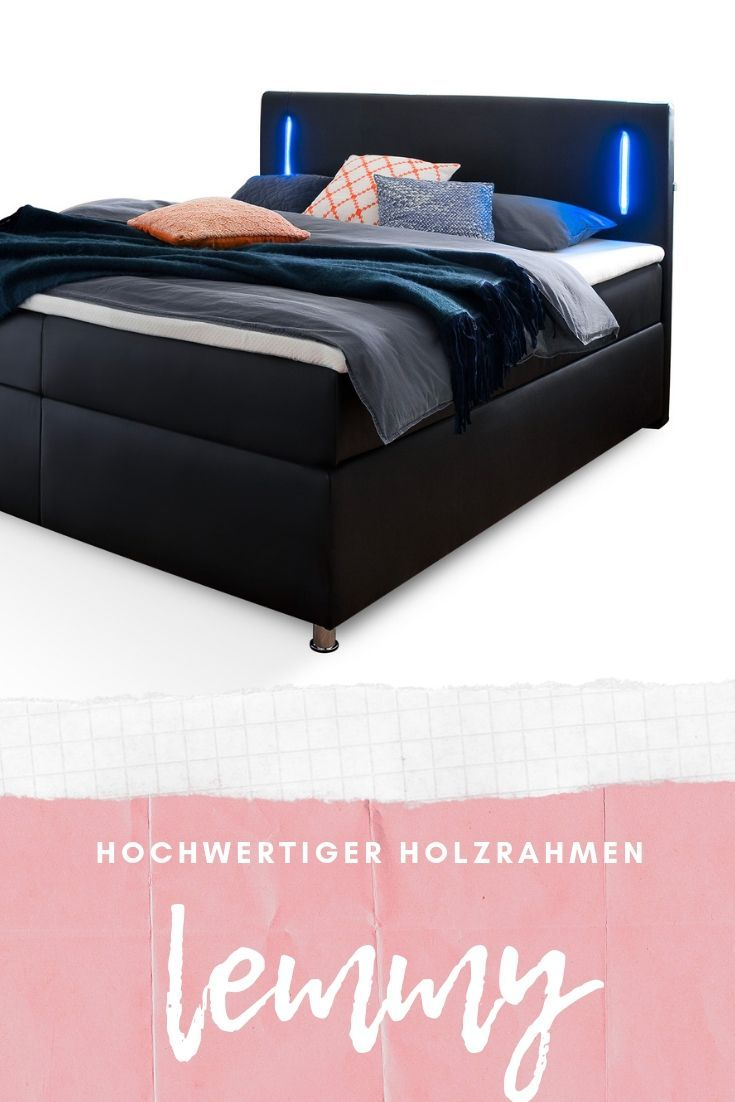 Hochwertiges Boxspringbett Mit Integrierter Led Beleuchtung Im Kopfteil In Mehreren Ausfuhrungen Lieferbar Boxspringbett Led Beleuchtung Bett