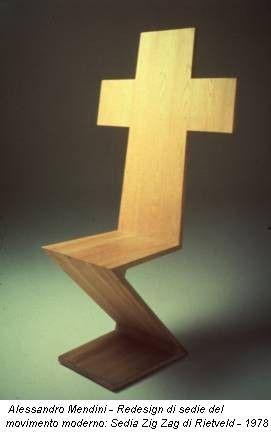 Alessandro mendini redesign di sedie del movimento for Sedia zig zag cassina prezzo