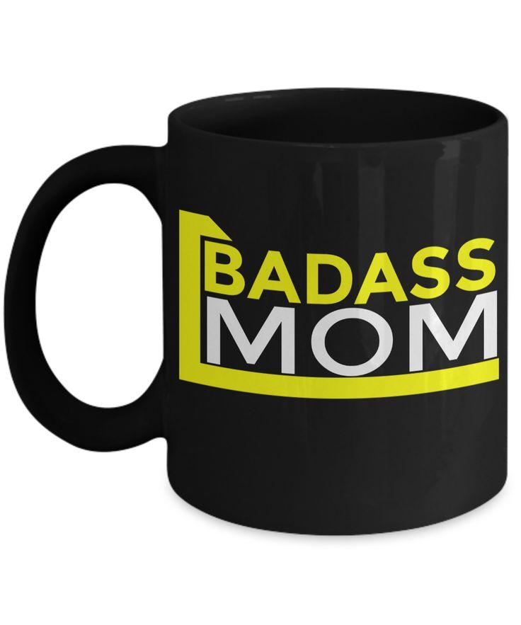 Funny Coffee Mugs For Mom -best Mom Mugs Coffee - Mom Coffee Mug-cheap Gift Ideas For Mom - Funny Gifts For Mom - Birthday Gift Mom - Mugs For Mom - Badass Mom Black Mug
