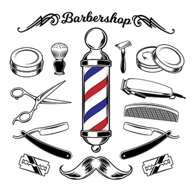 Herramientas De Barberia De Coleccion Monocromo De Vector Clipart De Vector Peluqueria Barber Png Y Vector Para Descargar Gratis Pngtree Barber Shop Decor Barber Shop Vintage Barber