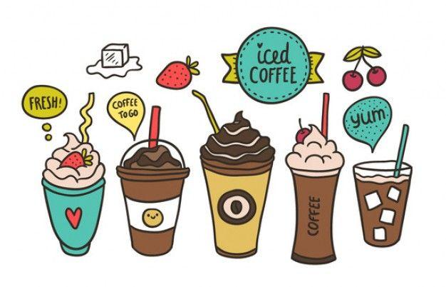 Desenho jogo de café Vetor grátis